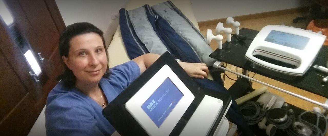 Loredana Cossu Fisioterapista utilizza i dispositivi BAC Technology