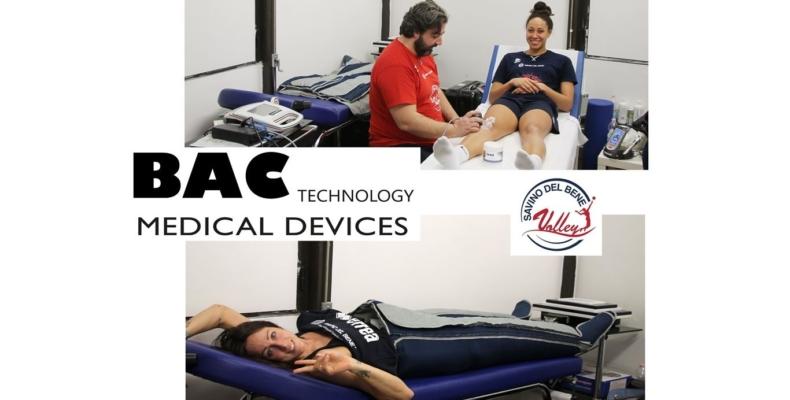 "Bac TechnologyOfficial Supplier ofSavino Del Bene""Volley Scandicci"""